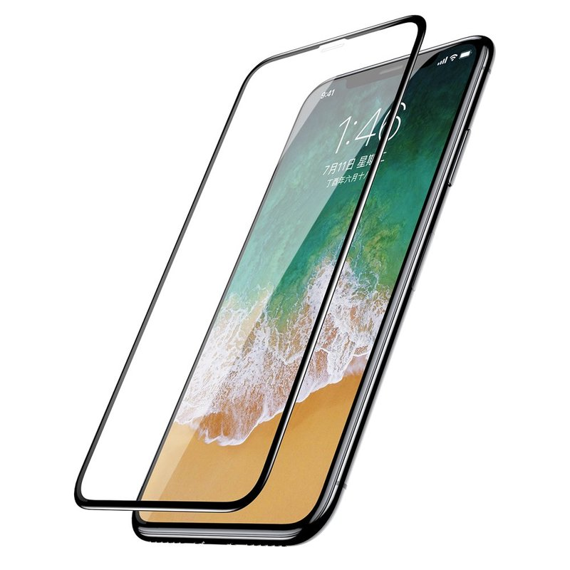 Folie Sticla iPhone XS Baseus Full Coverage Curved - SGAPIPHX-KC01 - Clear