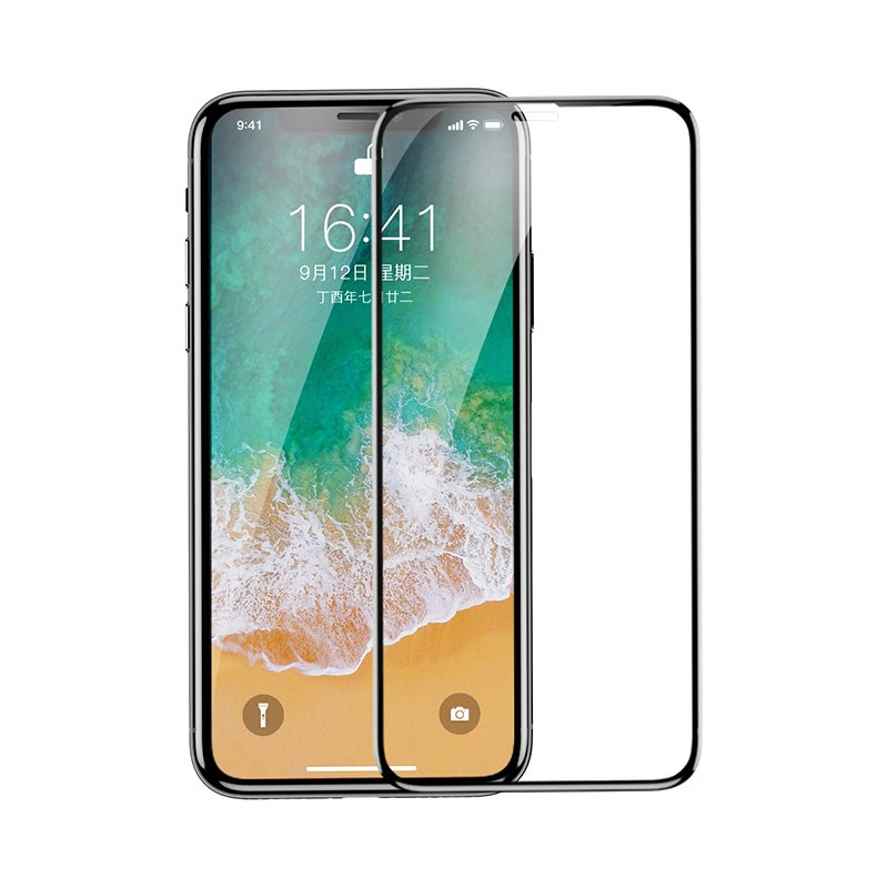 Folie Sticla iPhone XS Baseus Tempered Edge Anti-Bluelight - SGAPIPHX-HEB01 - Clear
