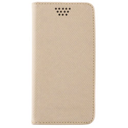 Husa Smart Book pentru telefoane intre 4.5 - 4.7 inch - Flip Auriu