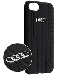 Husa iPhone 7 Audi Leather Case - Negru 8-A6/D1-BK