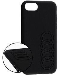 Bumper iPhone 7 Audi - Negru TPUPCIP8-TT/D1-BK