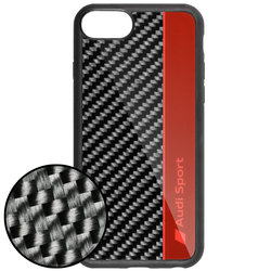 Husa iPhone 7 Audi Sport Carbon - Rosu 8-R8/D1-RD