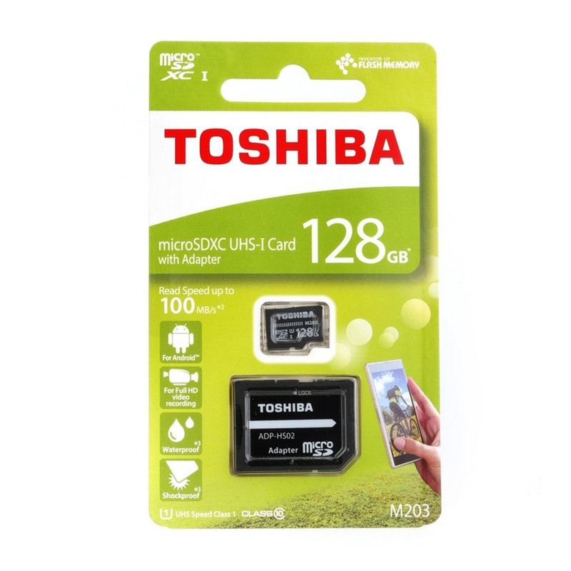 Card de memorie MicroSDXC Class 10 128 GB Toshiba M203 + Adaptor SD