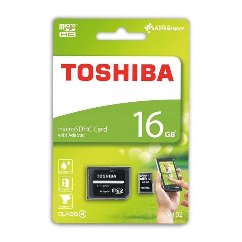 Card de memorie MicroSDHC 16 GB Toshiba + Adaptor SD