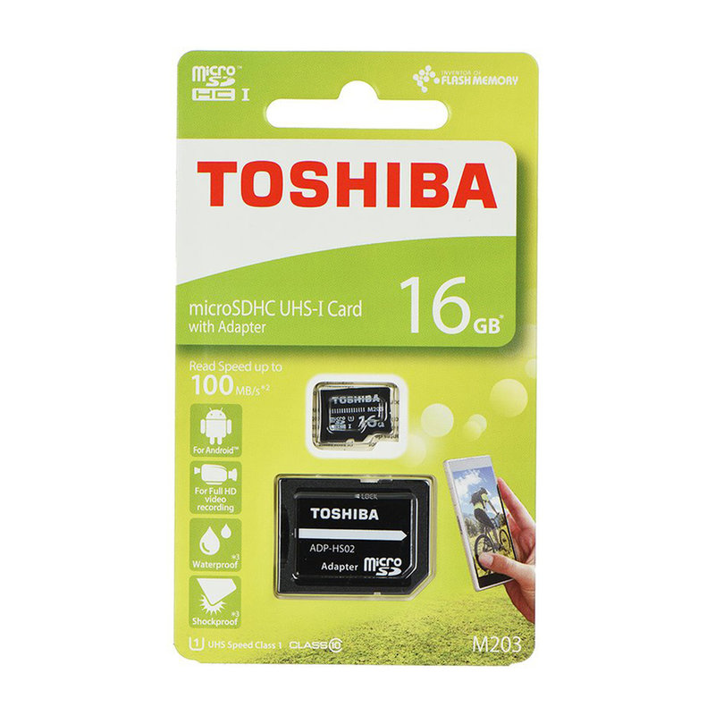 Card de memorie Toshiba Micro SDHC 16 GB UHS-I + Adaptor SD