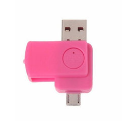 Card Reader Mobster USB 2.0 + Micro-USB - Pink