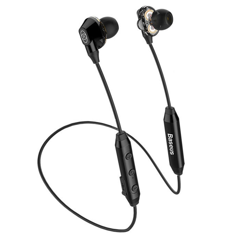 Casti In-Ear Wireless Baseus Encok S10 Bluetooth with Dual Moving-coil - NGS10-01 - Black
