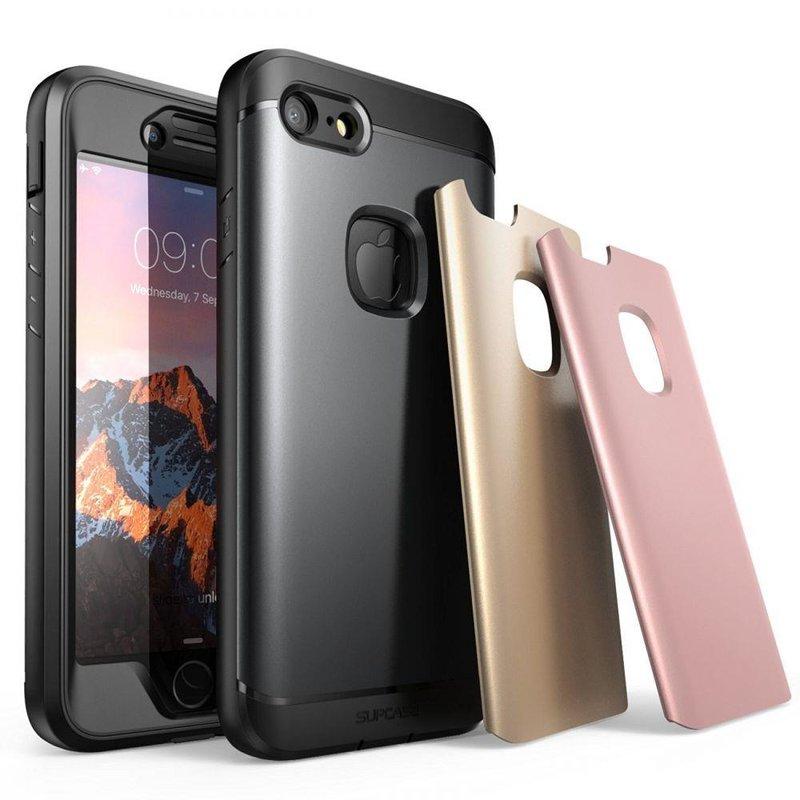 Husa Telefon iPhone 8 Supcase Water Resistant - Black/Pink/Gold