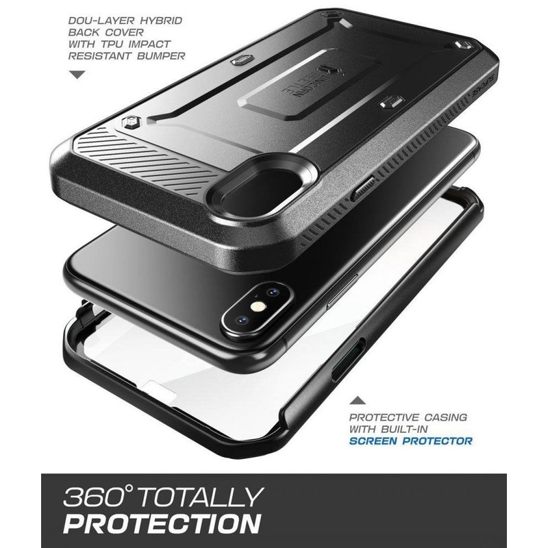 Husa Telefon iPhone XS Supcase Unicorn Beetle Pro - Black