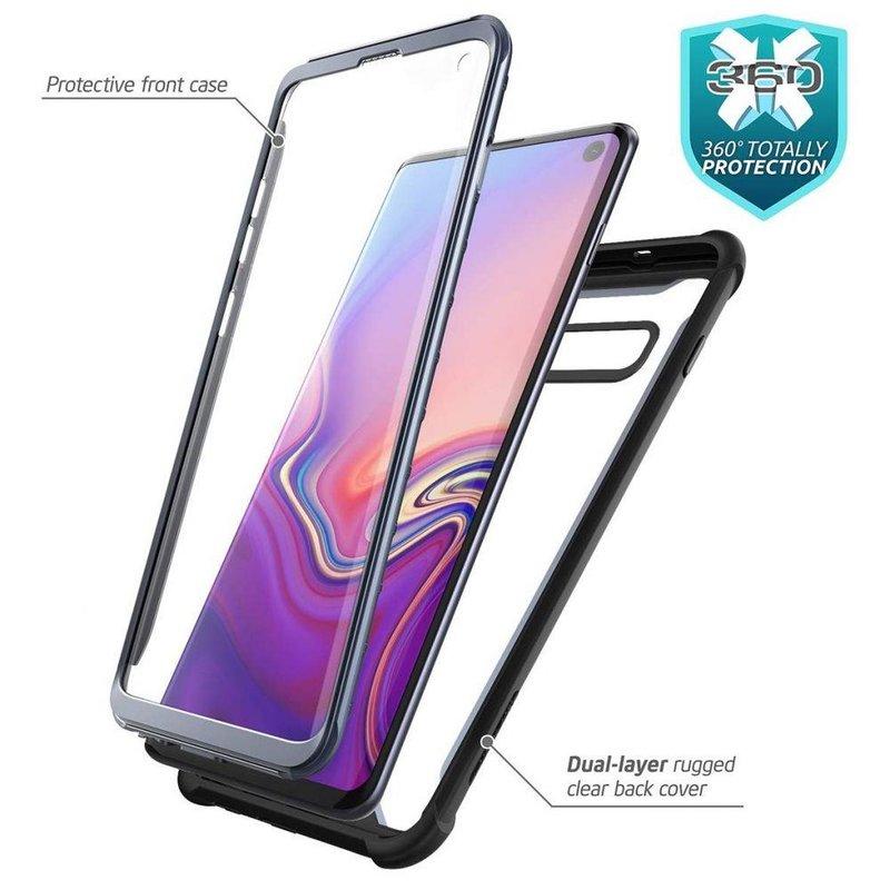 [Pachet 360°]Husa Samsung Galaxy S10 SupCase i-Blason Ares SP + Folie Ecran - Black