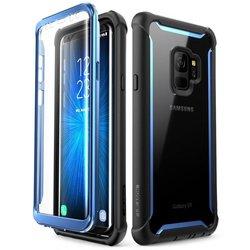 [Pachet 360°]Husa Samsung Galaxy S9 SupCase i-Blason Ares SP + Folie Ecran - Black/Blue