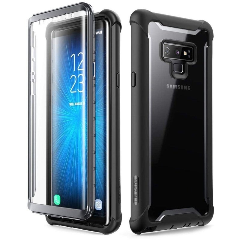 [Pachet 360°]Husa Samsung Galaxy Note 9 SupCase i-Blason Ares SP + Folie Ecran - Black