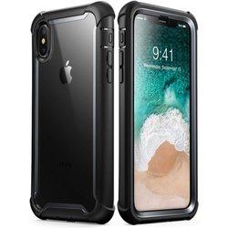[Pachet 360°]Husa iPhone X, iPhone 10 SupCase i-Blason Ares V2 + Folie Ecran - Black