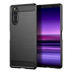 Husa Sony Xperia 5 TPU Carbon Negru