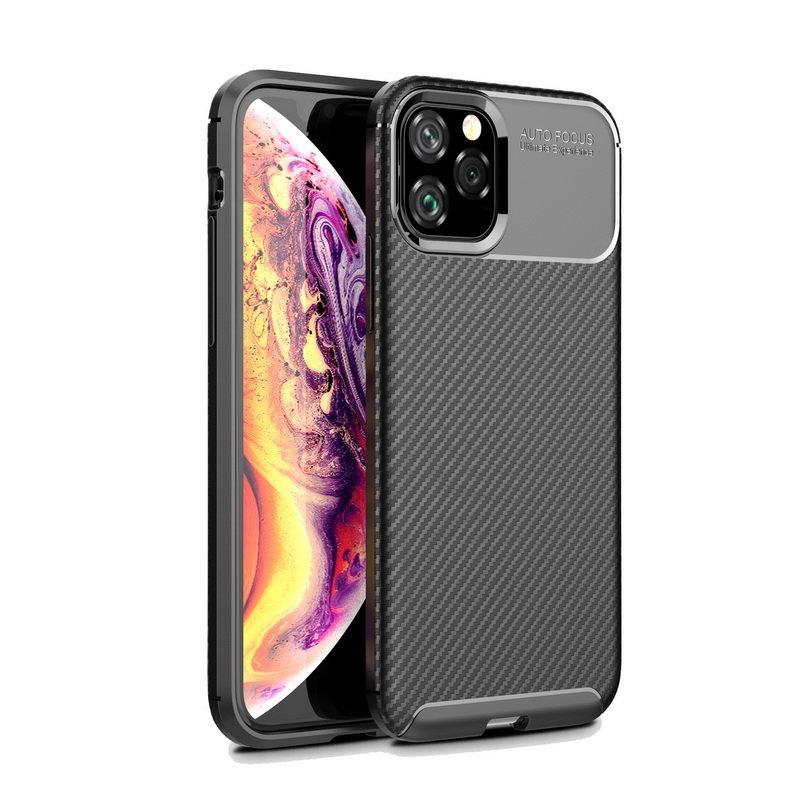 Husa iPhone 11 Pro Max Mobster Carbon Skin Negru
