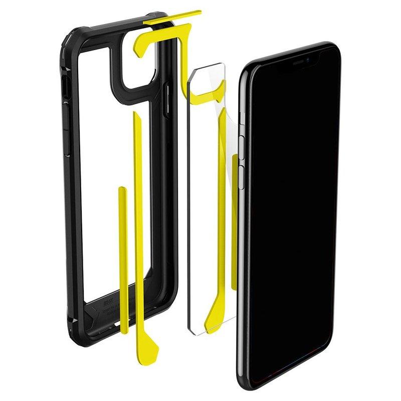 Husa Telefon iPhone 11 Pro Max Spigen Gauntlet - 075CS27495 - Carbon Black