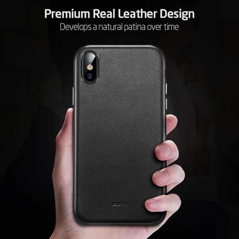 Husa Telefon iPhone 11 ESR Metro Leather - Black