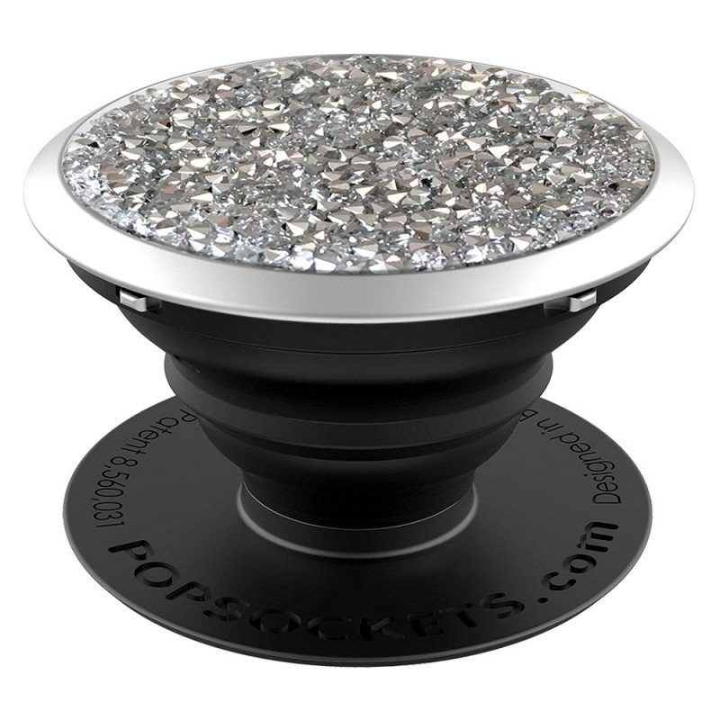Popsockets Original, Suport Cu Functii Multiple - Silver Crytals