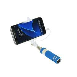 Mini Suport Selfie Blun Mini Jack 3.5mm - Albastru
