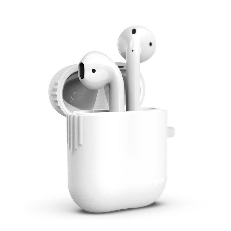 Husa Pentru Apple Airpods Din Silicon Protector Ringke Case - 8809659048607 - White