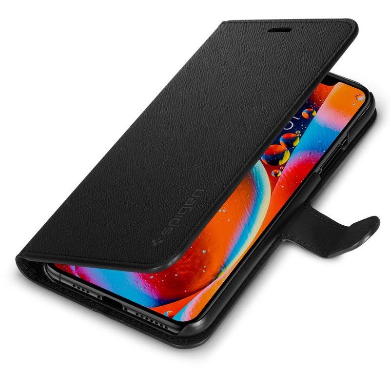 Husa iPhone 11 Spigen Wallet S - Saffiano Black