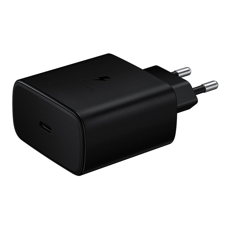 Incarcator Priza Original Samsung Travel Adapter + Cablu Type-C - EP-TA845XBEGWW - Black