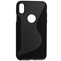 Husa iPhone X, iPhone 10 Mobster S-Line Legacy - Negru