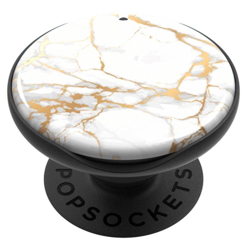Popsockets Original, Suport Cu Functii Multiple - PopMirror Stone Marble Gloss