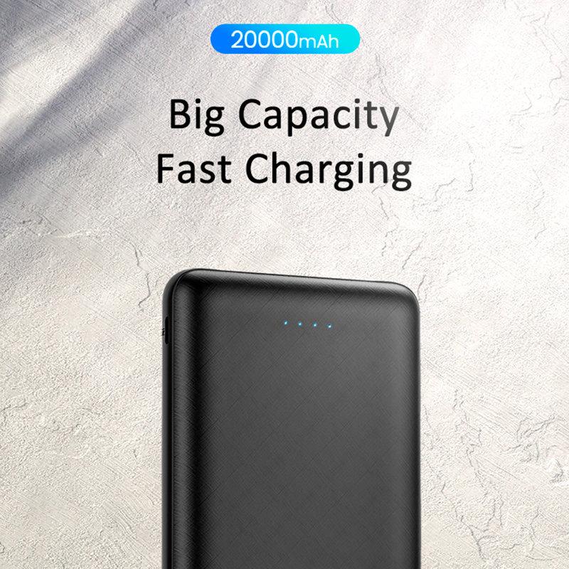Baterie Externa USAMS PB19 Dual USB Power Bank 20000 mAh - US-CD80 - Black