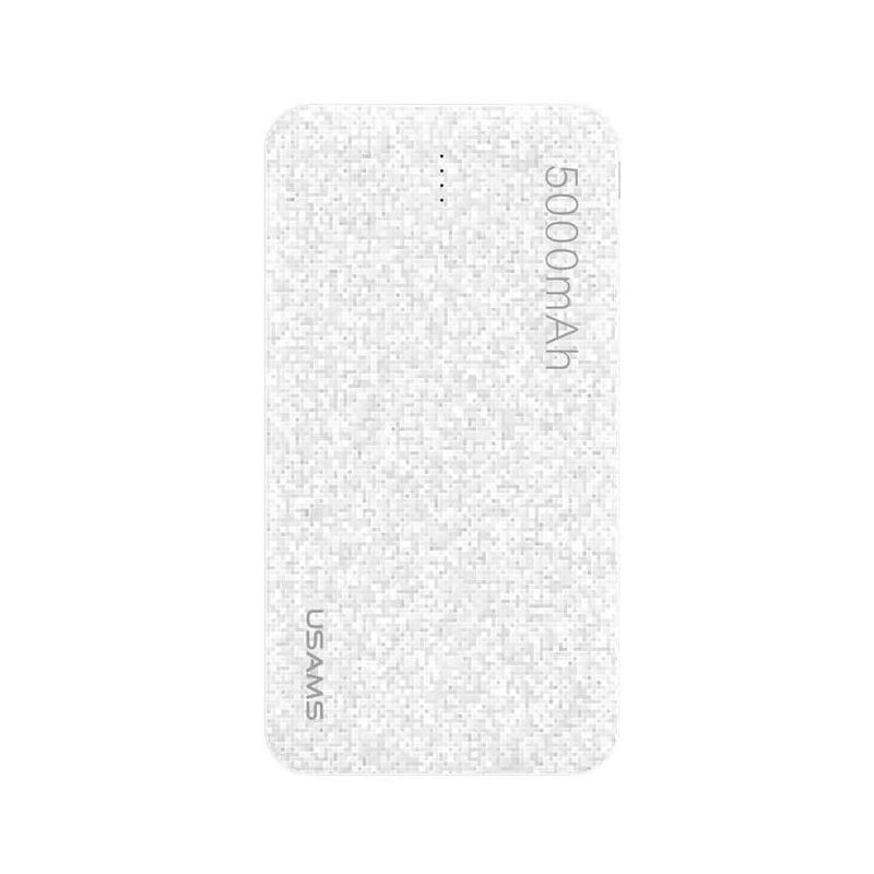 Baterie Externa USAMS Mosaic Slim Power Bank 5000mAh - US-CD20 - White