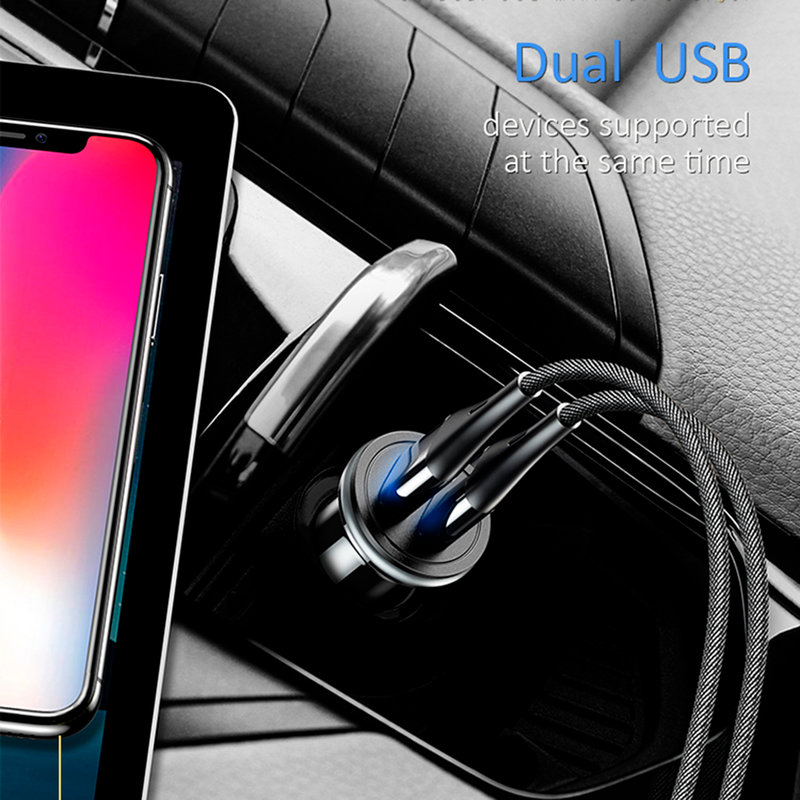 Incarcator Auto USAMS C4 Dual USB Mini 2.4A - US-CC050 - Black