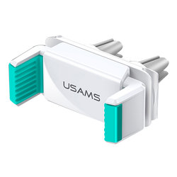 Suport Auto Telefon USAMS Dual Air Vent - US-ZJ045 - White/Green