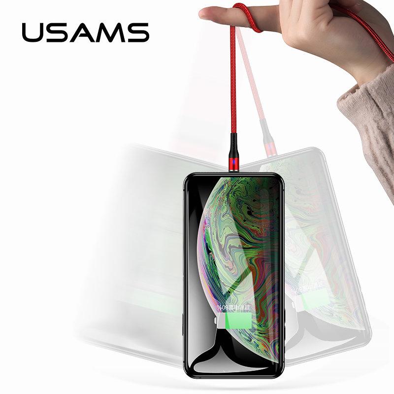 Cablu de date USAMS U29 Cu Mufa Magnetica Detasabila Lightning 2M - US-SJ336 - Black