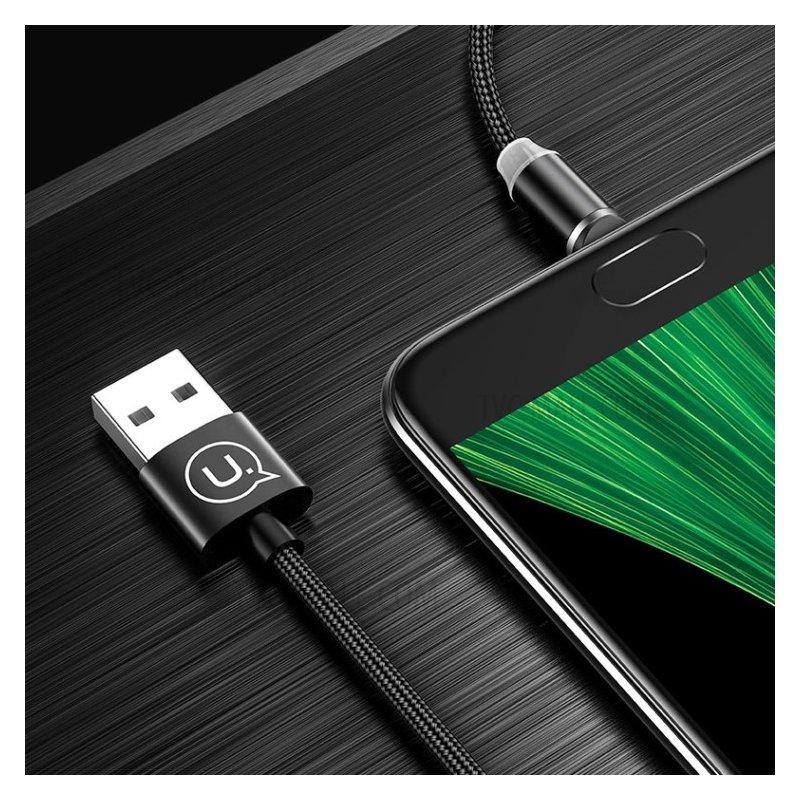Cablu de date Micro-USB USAMS Cu Mufa Magnetica Detasabila, 1M - Rosu SJ294USB02