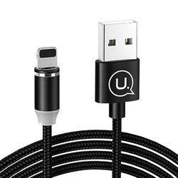 Cablu de date Lightning USAMS Cu Mufa Magnetica Detasabila, 1M - Negru SJ292USB01