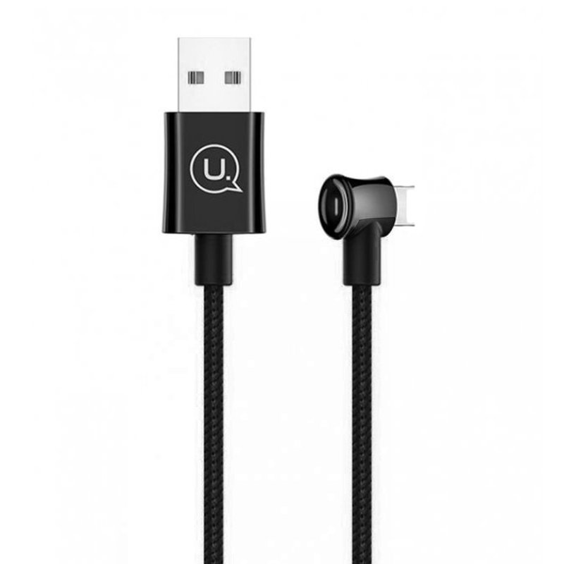 Cablu de date USAMS U13 Smart Power Off USB to Lightning 2M - US-SJ342 - Black