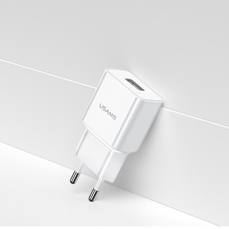 Incarcator Priza USAMS T11 USB Travel Charger 2.1A - US-CC060 - White