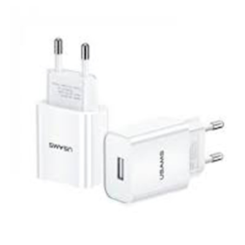 Incarcator Priza USAMS T18 U-star Series Single USB Travel Charger 2.1A - US-CC075 - White