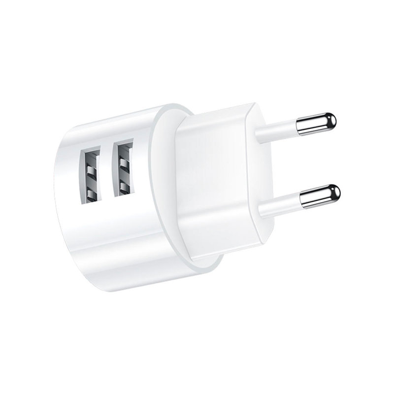 Incarcator Priza USAMS T20 Dual USB Travel Charger U-star Series 2.1A - US-CC080 - White