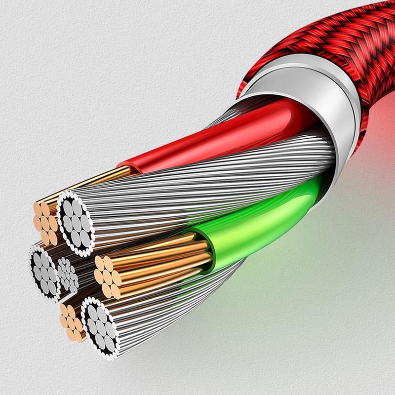 Cablu de date USAMS U28 Cu Mufa Magnetica Detasabila Lightning 1M - US-SJ326 - Red