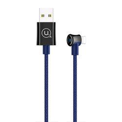 Cablu de date USAMS U13 Smart Power Off USB to Lightning 2M - US-SJ269 - Blue