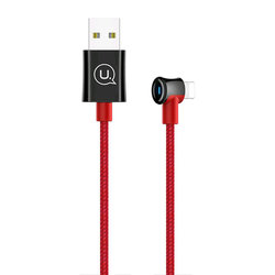 Cablu de date USAMS U13 Smart Power Off USB to Lightning 2M - US-SJ269 - Red