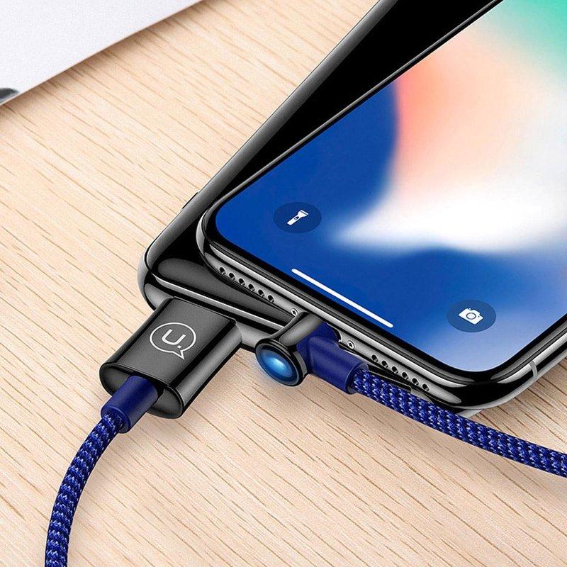 Cablu de date USAMS U13 Smart Power Off USB to Type-C 2M - US-SJ342 - Blue