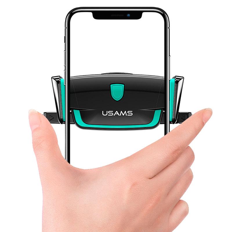 Suport Auto Universal Pentru Grila De Ventilatie USAMS Auto Clip Design - US-ZJ030 - Black