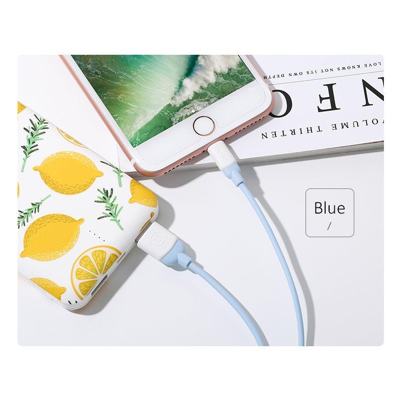 Cablu de date USAMS Ice Cream Fast Charge USB to Lightning 1M - US-SJ245 - Blue