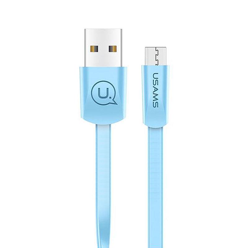 Cablu de date USAMS U2 Fast Charge USB to Micro-USB 1.2M - US-SJ201 - Blue