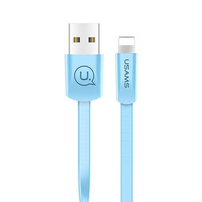 Cablu de date USAMS U2 Fast Charge USB to Lightning 1.2M - US-SJ199 - Blue