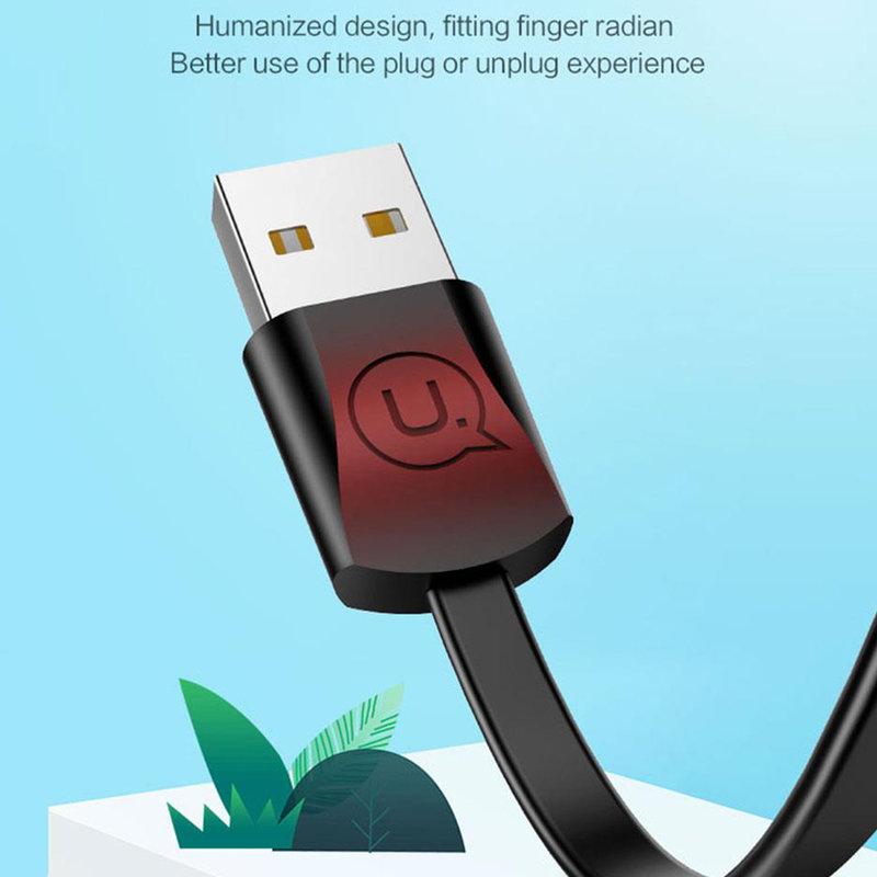 Cablu de date USAMS U2 Fast Charge USB to Lightning 1.2M - US-SJ199 - Black