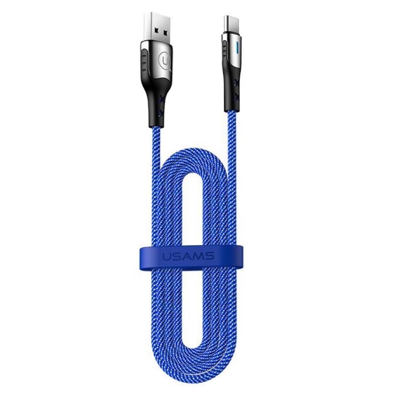 Cablu de date USAMS U27 Fast Charging USB to Type-C 2M - 5A - US-SJ320 - Blue