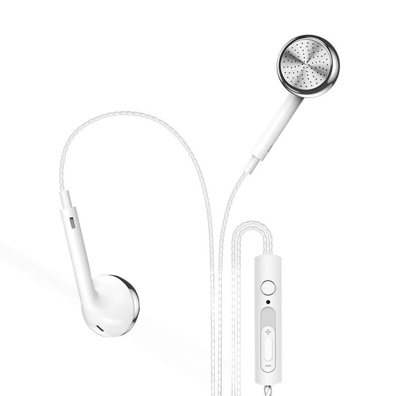 Casti In-Ear Cu Microfon USAMS EP-20 Flat-ear Perfume Earphone Wire 3.5mm - US-SJ190 - White